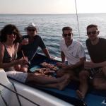 Our Australian family enjoying the sunset cruise.