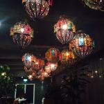 Beautiful lighting in the Azka Restuarant!