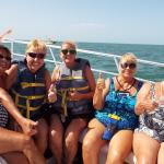 Friends going Parasailing