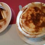 the turkish flan [left] and rice pudding
