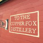 Copper Fox Distillery directional sign