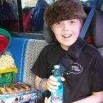 I think he likes the Frostie cream soda!
