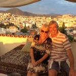 Roof terrace with amazing views of Kusadasi