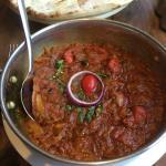 South Indian spicy garlic chicken