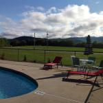 Large pool deck  mt views