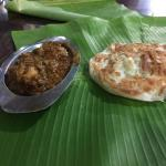 Chicken with kerala paratha