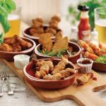 Sharing chicken feast