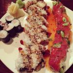 Red dragon roll, Dynamite roll, and Spicy Tuna roll