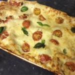 Homemade veggie lasagne