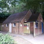 The washrooms are located in the free car park