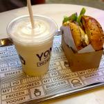 YOMG Frozen Yogurt + Burgers