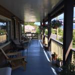 Premier Creek Inn - second floor deck.