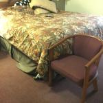 very tall soft beds.. chair arm height.