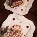 Lemon Raspberry Cake and Tiramisu..very good!