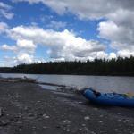 Rafting break long the Chulitna