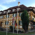 Blick auf das historische Gebäude der Pension Pastoriushaus