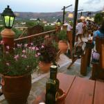 Uitzicht vanaf het terras.