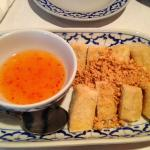 Fried tofu with sweet and sour dipping sauce.