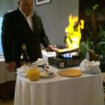 Creppe suzette prepared by a very charming waiter