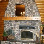 One of our three stone fireplaces