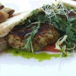 Falafal with duck fat roasted potatoes.