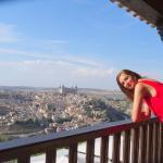 vista de Toledo desde el balcón de la habitación