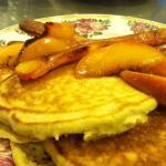 Peach pancakes with our own peaches