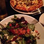 Fennel fennel pizza and salad!!