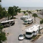 Pull-Thru sites across from white sand beaches