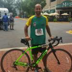 Trek Boone 7 rental bike powered Marcio Matof, of Brazil, to a 1:12 40 km ride in the bike leg o