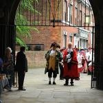 Chief Lords Feoffee Ceremonially Greets Town Crier & Mayor at Bayle Museum Entrance