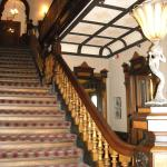The stairway to the guest rooms