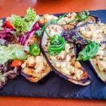 aubergine with feta