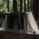 Tent at the Crescent City KOA