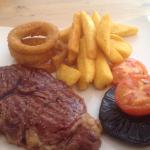 Ribeye steak!! Superb!