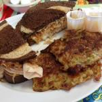 chicken Rachel with potato pancakes