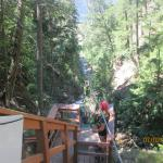 my son 8yr old on canyon zipline
