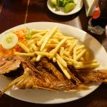 Whole Fish French fries