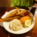 Whole Fish White Rice cooked in coconut milk