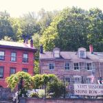 The view from Broadway of the Times House and Stone Row on historic Race Street.