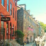 A beautiful day on historic Race Street in the heart of Jim Thorpe.