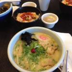 Big bowl of ramen plus more food to eat
