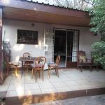 The veranda with seating and eating area.