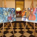 Mostra di quadri di Ausilia Miceli nel foyer del teatro