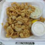 Fried full belly clam boat from Off the Hook!