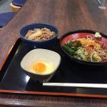 牛丼ミニと冷かけ蕎麦のセット670円