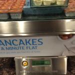 Pancake machine at free breakfast