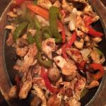 sizzling pepper chicken in action