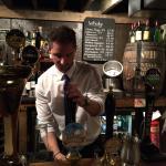 Friendly Central European barman