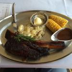 SMOKED BRONTOSAURUS BEEF RIBS SPECIAL (with corn on the cob, potatoes, and gravy)